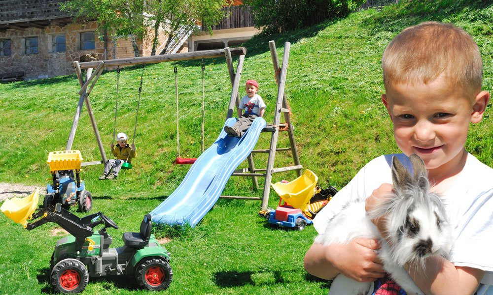 A kids' paradise on the farm Goldrainerhof in beautiful Castelrotto